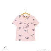 【INI】花漾活力、文青花漾字母圓領上衣.粉色