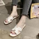 拖鞋 外穿拖鞋女夏韓版時尚糖果色h拖鞋女平底一字涼拖鞋女潮沙灘拖鞋