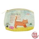 【日本製】【ECOUTE!】貓咪系列 迷你化妝包 萬用包 虎斑貓圖案 SD-3931 - ecoute!