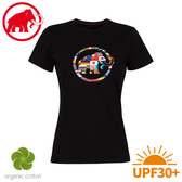 【MAMMUT 長毛象 女 Nations T-Shirt 短袖世界T《黑》】1017-02230/棉T/抗UV/休閒運動衫