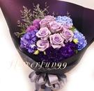 浪漫紫色系花禮~海洋之歌--情人花束.生日花束.聖誕花束