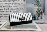 Roberto Mocali 諾貝兔 黑白條紋系列 三折扣式長夾  RM-79926