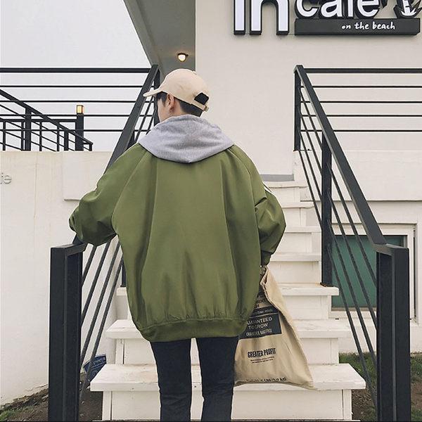 經典潮流復古連帽條紋造型百搭休閒外套