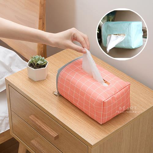 幾何簡約車用面紙收納盒 車用收納 面紙盒 收納袋 面紙套