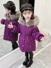 女童棉衣冬裝免運新款女孩洋氣外套兒童加厚羽絨棉服中長寶寶棉襖