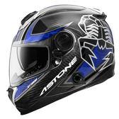 【東門城】ASTONE GT1000F AC9 蠍子(碳纖/藍) 全罩式安全帽 雙鏡片