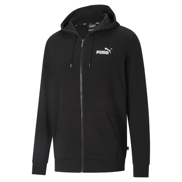 PUMA 男款黑色基本系列Big Logo連帽外套-NO.58577301