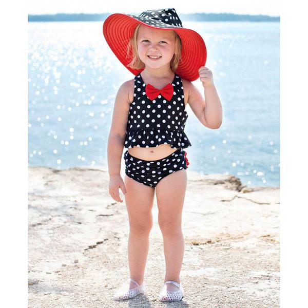 美國RuffleButts 女寶寶 二件式泳裝 多件式泳衣 米妮背心【RUSWSBP】