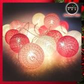 摩達客20燈LED絲線網球燈球殼燈-少女粉色系(USB & 電池二用款)