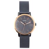 FOSSIL 極簡風灰藍經典米蘭鋼帶女腕錶34mm(ES4312)270470