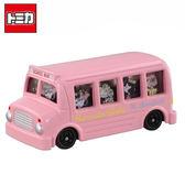 【日本正版】Dream TOMICA 史努比 粉紅巴士 多美小汽車 Snoopy 巴士 玩具車 - 804512