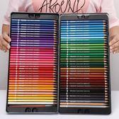 72色鐵盒水溶性色鉛筆繪畫專業彩色鉛筆可溶【南風小舖】