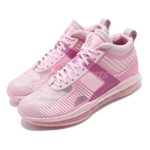 Nike LeBron X JE Icon QS John Elliot 粉紅 灰 男鞋 籃球鞋 【ACS】 AQ0114-600