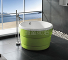 【麗室衛浴】BATHTUB WORLD  BB3319 壓克力 正圓漸層獨立缸 內白外綠