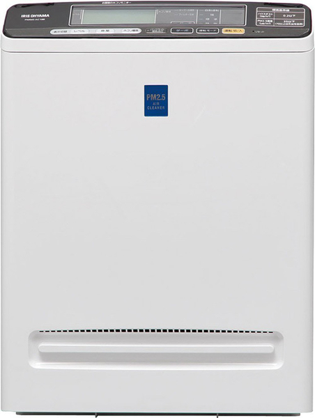 IRIS OHYAMA【日本代購】  空氣清淨機  PM2.5  PMMS-AC100 銀色