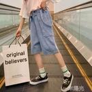 女童褲子2021新款中大童網紅薄款夏季外穿休閒夏裝兒童牛仔短褲潮 一米陽光