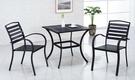 【南洋風休閒傢俱】戶外休閒桌椅系列-黑塑木休閒方桌椅組 戶外餐桌椅CX903-3 CX939-14)