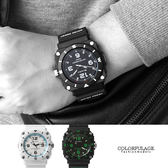 JAGA捷卡 軍式風格休閒運動夜光指針手錶   冷光功能  防水100米 柒彩年代【NE1415】原廠公司貨
