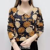 秋季新款中大碼女裝打底衫40歲50媽媽裝T恤減齡時尚中老上衣 快速出貨