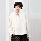 正韓 蕾絲披肩綁帶公主袖襯衫 (9690) 預購