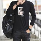 男士長袖  男士長袖T恤修身韓版圓領小衫青少年上衣男裝打底衫潮流衣  ciyo黛雅