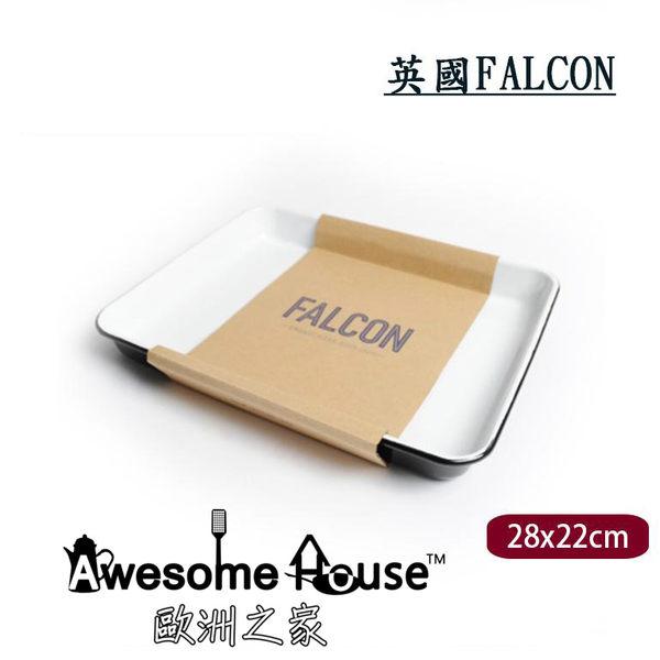 英國 獵鷹 Falcon 28X22 cm 長方形 琺瑯 烤盤 (黑色) # FAL-TRA-BB-UK