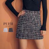 PUFII-短裙 經典混織金蔥毛呢短裙 2色-0920 現+預 秋【CP15186】