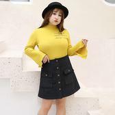 中大尺碼~A字版型短裙(XL~4XL)