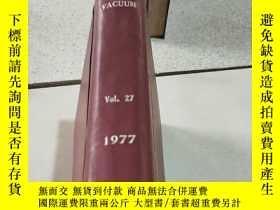 二手書博民逛書店VACUUM罕見Vo1.27 1977 真空Y212829 出版