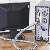 理線器理線器束線管 電腦線收納網線集線器纏繞管包線管固定保護套整理 BASIC HOME