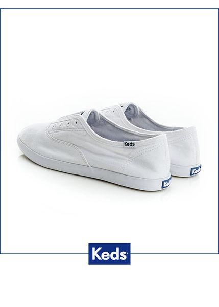 Keds 女鞋 水洗樂活 休閒帆布便鞋 懶人鞋-白 W130032