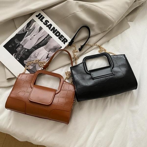 新品促銷 手提包包洋氣女包新款韓版百搭chic斜挎包簡約時尚單肩包