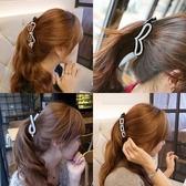 【NiNi Me 】韓系髮飾 氣質水鑽香蕉夾馬尾夾髮夾H9307