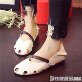 夏季學生涼鞋包頭超軟舒適軟面軟底女鞋懶人鞋兩穿鏤空洞洞鞋 印象家品旗艦店