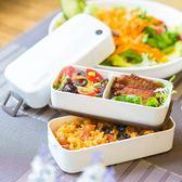 便当盒日本ASVEL飯盒 雙層分格日式塑料可微波爐餐盒 迷你可愛小便當盒 宜品居家館