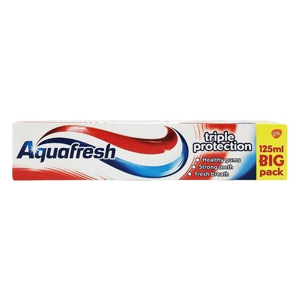 英國製造 Aquafresh 牙膏 Triple Protection 三重保護款 125ml
