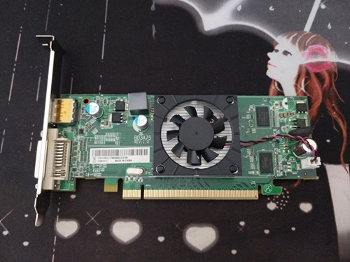 AMD原裝HD7450獨立顯卡1g支持雙屏DP分辨率2k送VGA頭也有高清HDMI 初色家居館