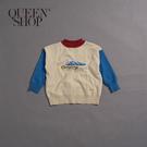 Queen Shop【01070924】童裝 親子系列 山脈緹花針織上衣 S/M/L*現+預*