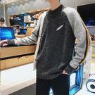 經典潮流日韓拼接條紋造型百搭長袖毛衣