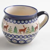 波蘭陶 歡樂聖誕系列 胖胖杯 320ml 波蘭手工製