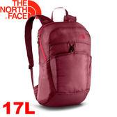 【The North Face 17L 輕量多功能背包 深石榴紅/紅】NF00CJ2Z/多功能/後背包/適登山/健行★滿額送