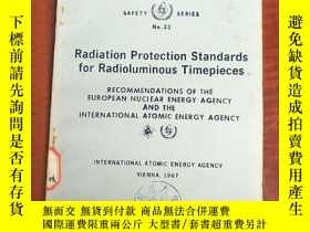 二手書博民逛書店radiation罕見protection standards for radioluminous timepie