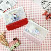【KP】三麗鷗 半透明收納包 Hello Kitty 雙子星 拉鍊包 化妝包 日本進口正版授權 DTT0522283