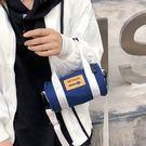預購-個性復古休閒圓筒包手提斜背包