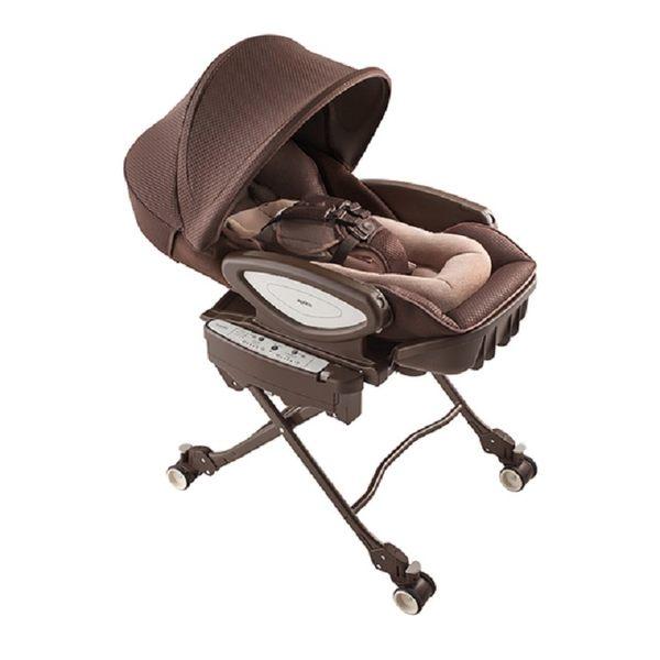 【愛吾兒】Aprica Yuarlism AUTO Premium Plus 電動安撫餐椅搖床 天鵝堡