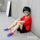 男女兒童鞋子2019潮流夏款單網鞋透氣網面實心休閒運動潮鞋 JH38『夢幻家居』