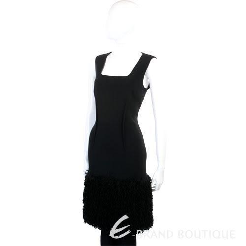 NINA 黑色造型下襬無袖洋裝 1140557-01