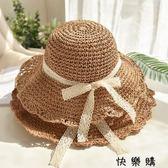 沙灘帽女夏天海邊度假遮陽帽