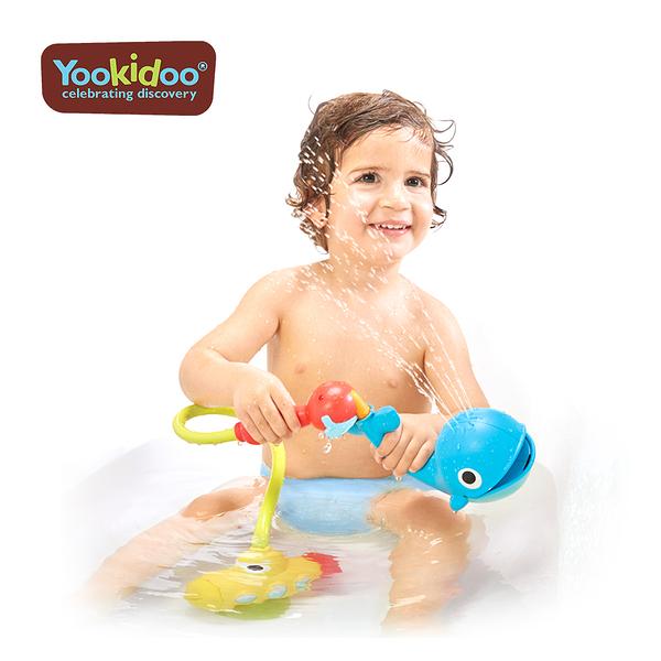 Yookidoo以色列 洗澡/ 戲水玩具 - 噴水鯨魚蓮蓬頭套組