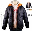 【大盤大】SHUANG YU 鋪棉外套 175/96B 全新 男裝 拉鍊外套 黑色 撞色 單品 保暖 情人節禮物
